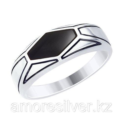 Кольцо из серебра с эмалью  SOKOLOV 94012536 размеры - 19,5 20 20,5 21 21,5 22 22,5