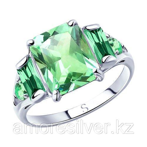 Кольцо из серебра с фианитами  SOKOLOV 94012801 размеры - 19,5