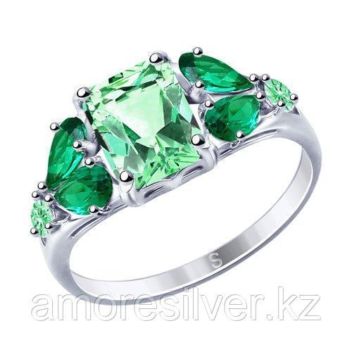 Кольцо из серебра с фианитами    SOKOLOV 94012761 размеры - 20