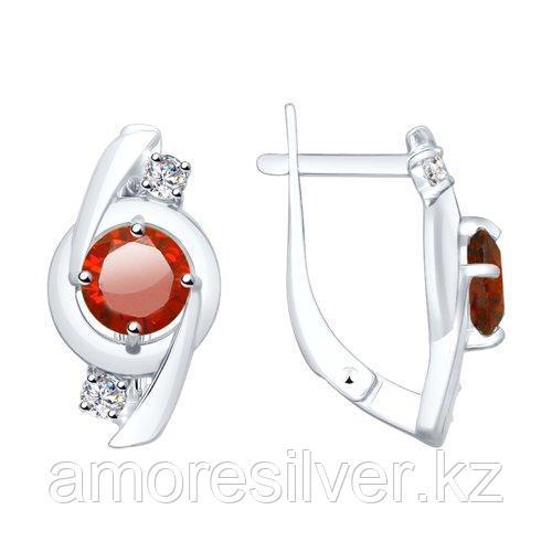 Серьги из серебра с фианитами    SOKOLOV 94023420