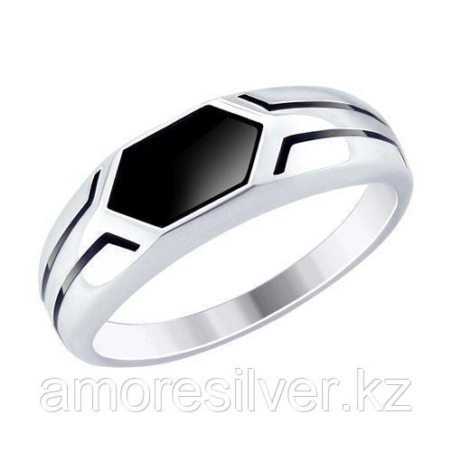 Кольцо из серебра с эмалью  SOKOLOV 94012519 размеры - 19 19,5 20 20,5 21 21,5 22,5