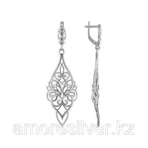 Серьги длинные из серебра  SOKOLOV 94021123