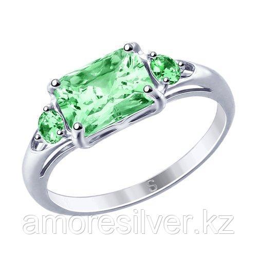 Кольцо из серебра с фианитами    SOKOLOV 94012764 размеры - 16 16,5 18 18,5 19,5