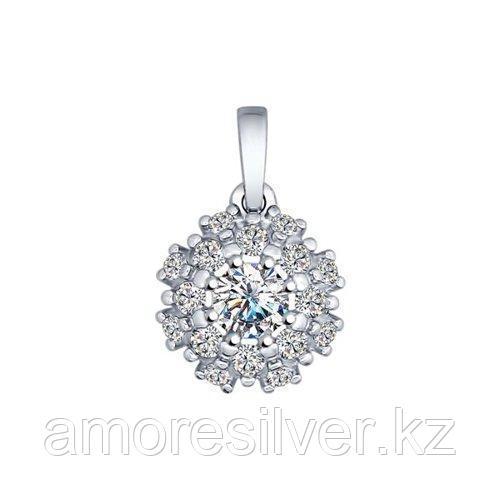 Подвеска SOKOLOV серебро с родием, фианит swarovski  89030014