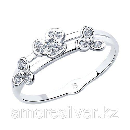 Кольцо из серебра с фианитами    SOKOLOV 94012934 размеры - 19