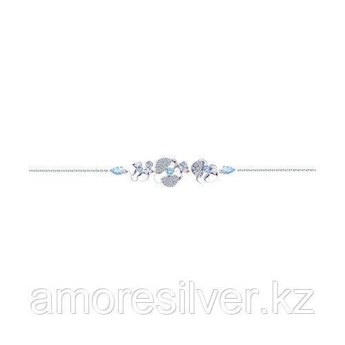 Браслет из серебра с фианитами    SOKOLOV 94050532 размеры - 18 19