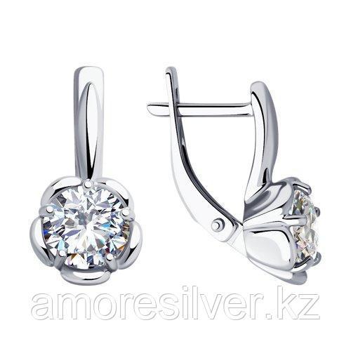 Серьги из серебра с фианитами    SOKOLOV 94023457