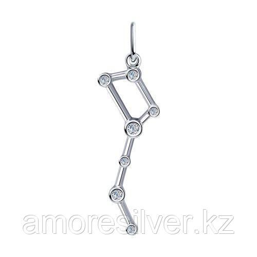 Подвеска из серебра с фианитами    SOKOLOV 94032432