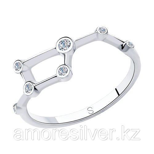 Кольцо из серебра с фианитами    SOKOLOV 94013060 размеры - 16 16,5 17 17,5 18 18,5 19 19,5