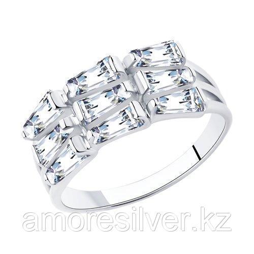 Кольцо SOKOLOV серебро с родием, фианит  94013071 размеры - 20