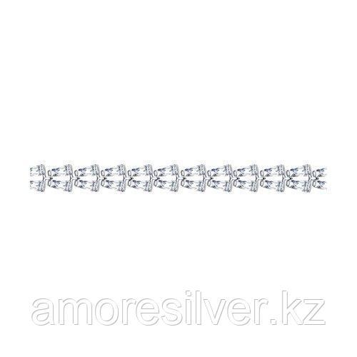 Браслет из серебра с фианитами    SOKOLOV 94050561 размеры - 16 17 18 19
