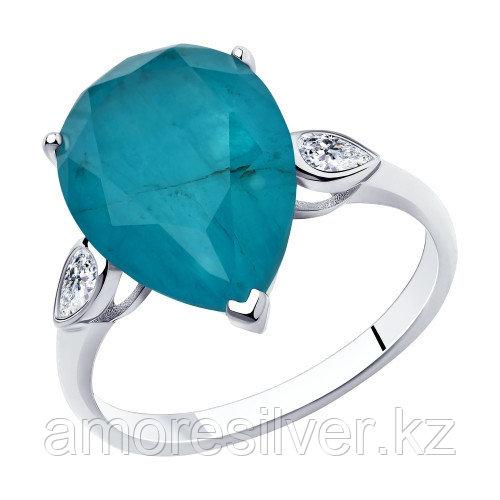Серебряное кольцо с фианитом    SOKOLOV 94-110-00521-2 размеры - 18