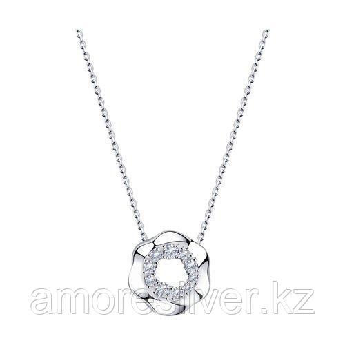 Колье из серебра с фианитами    SOKOLOV 94070301 размеры - 40 50 55