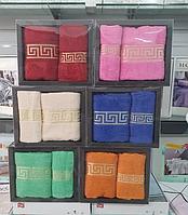 """Подарочный набор полотенец. """"Греция"""".  Банное и лицевое."""