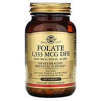 Фолиевая кислота, 1333 мкг фолиевого эквивалента, 800 мкг, 250 таблеток, Солгар