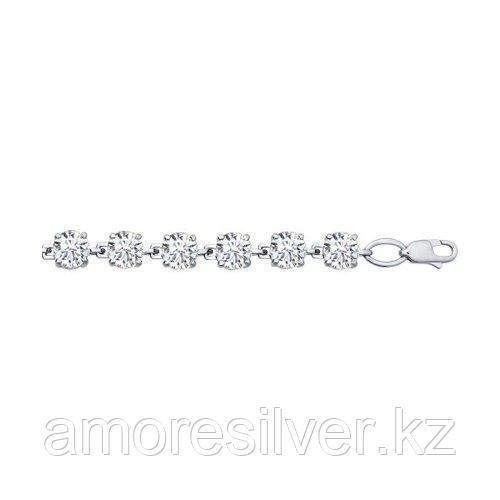 Браслет из серебра с фианитами  SOKOLOV 94050120 размеры - 17 18