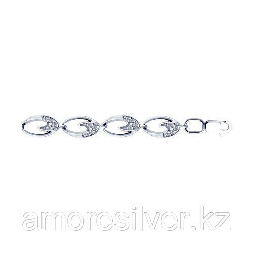 Браслет из серебра с фианитами  SOKOLOV 94050504 размеры - 17 18