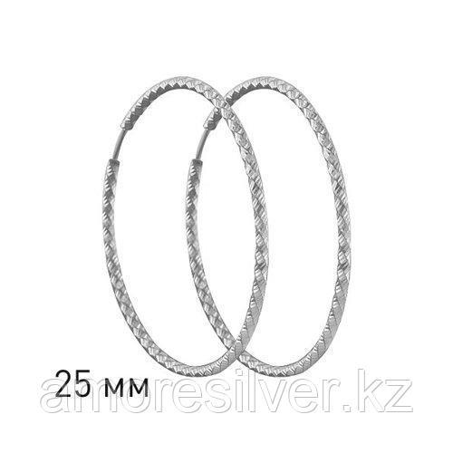 Серьги конго из серебра с алмазной гранью  SOKOLOV 94140030