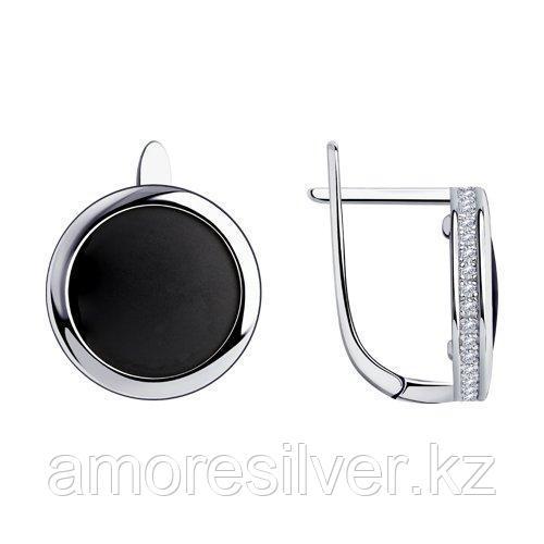 Серьги SOKOLOV серебро с родием, фианит  94024693