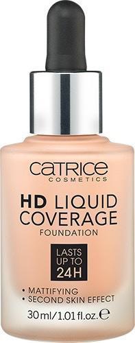 Тональная основа «HD Liquid Coverage Foundation», оттенок 020 Rose Beige