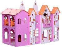 Домик для кукол Замок Джульетта бело-розовый с мебелью
