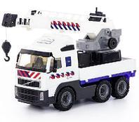 Автомобиль-кран с поворотной платформой полицейский Volvo