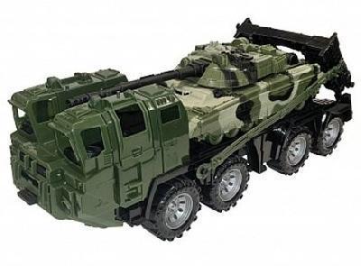 Военный тягач Щит с танком (камуфляж)