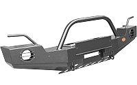 Бампер передний OJ 02.206.03 на Jeep Wrangler JК стандарт + доп. опции