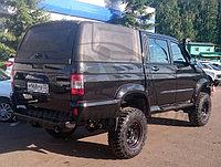 Крыша (кунг) кузова для УАЗ Пикап (двойная кабина) 2015+ чёрная (1 дверь) Cargo