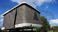 Палатка М2 на крышу автомобиля черная 219x166x38 см