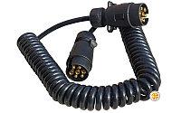 Кабель электрический спиральный для соединения тягача с прицепом (европейский тип)