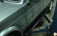 Силовые съемные пороги PS.02 для ВАЗ Нива 5дв.