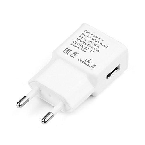 Адаптер питания Cablexpert MP3A-PC-09, 1xUSB, 1A