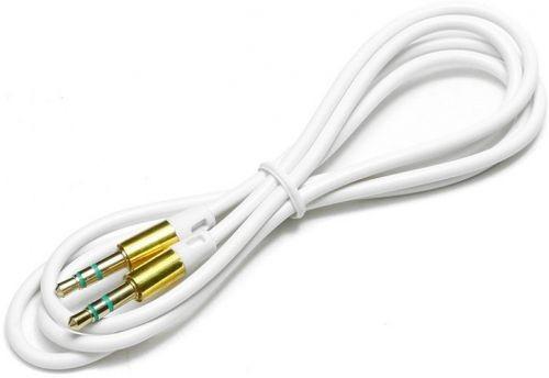 Кабель аудио Cablexpert CCA-3.5MM-1W, джек3.5 / джек3.5, белый 1м