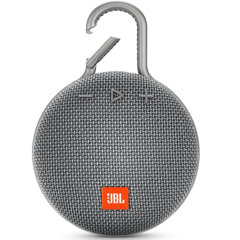 Динамик JBL Портативная акустическая система  JBL CLIP 3, серая