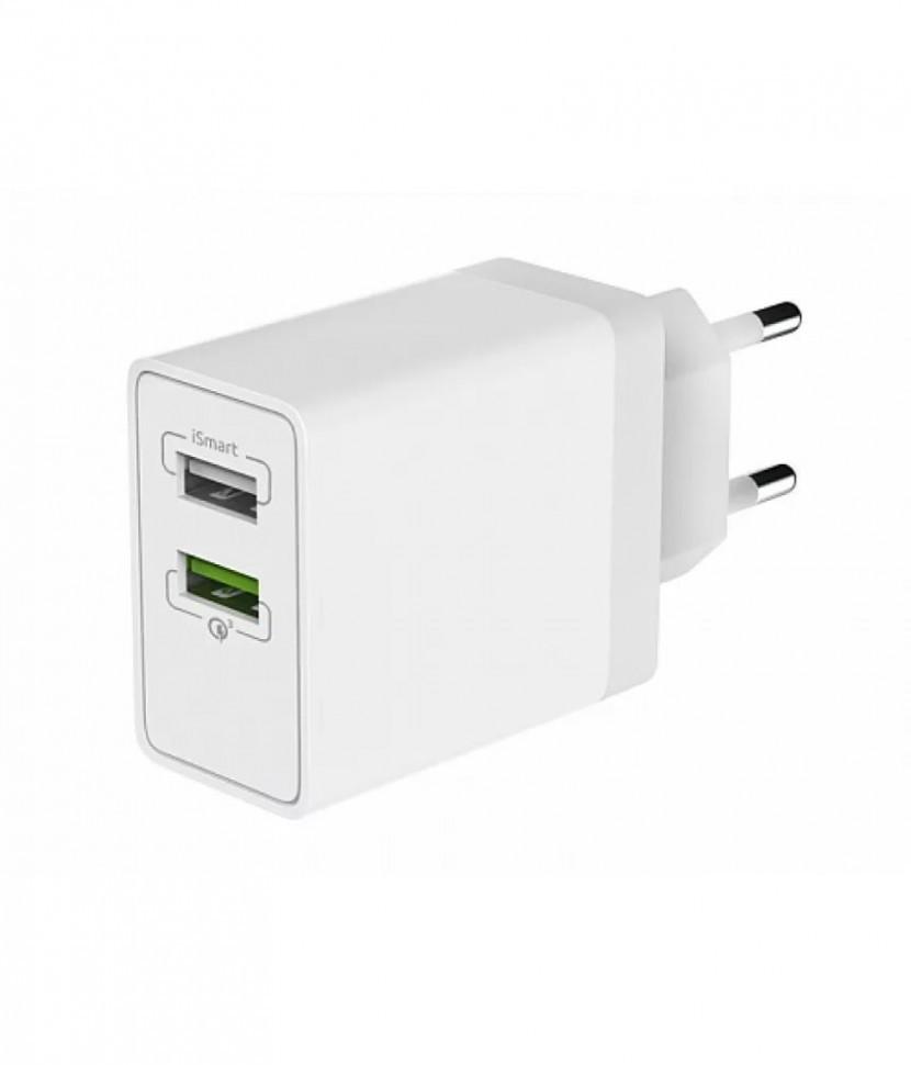 Сетевое зарядное устройство OLMIO 2USB, 3.4A, Smart IC