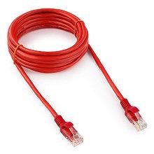 Патч-корд UTP Cablexpert PP12-3M/R кат.5e, 3м, литой, многожильный (красный)
