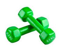 Гантели HomeSport виниловая 0.5 кг - пара (общий вес 1 кг)