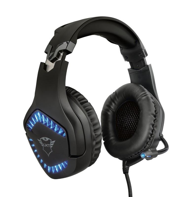 Наушники гарнитура игровая Trust GXT460 Varzz Illuminated черный