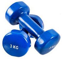 Гантель HomeSport винил 3 кг - пара (общий вес 6 кг)