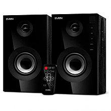Акустическая система SVEN SPS-615, чёрный, 2.0, мощность 2x10Вт (RMS), USB/SD, пульт ДУ, Bluetooth