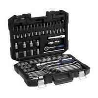 Набор инструментов в кейсе TUNDRA, автомобильный, CrV, 1/2' и 1/4', 99 предметов