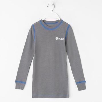 Фуфайка детская, рост 134 см, цвет серый/синий