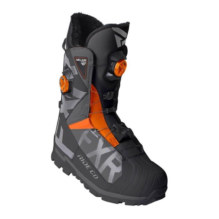Ботинки FXR Helium Pro BOA с утеплителем, размер 41, чёрный, серый, оранжевый