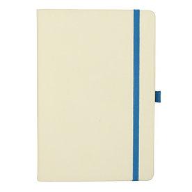 Блокнот А5, белый, синий срез