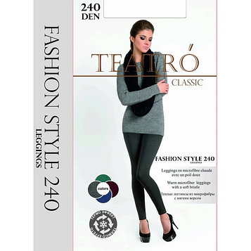 Легинсы женские Fashion Style 240 Leggins, цвет джинс меланж (jeans melange), размер 2