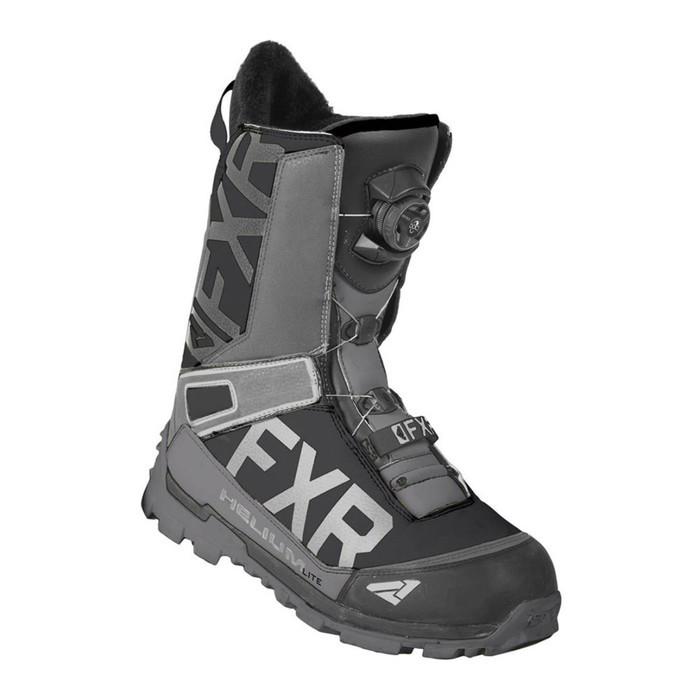 Ботинки FXR Helium Lite BOA с утеплителем, размер 38, чёрный, серый