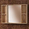 Комплект Тумба для ванной с раковиной и зеркалом «Акваль Лофт» 100 см. черный матовый (Умывальник Миранда 100), фото 4