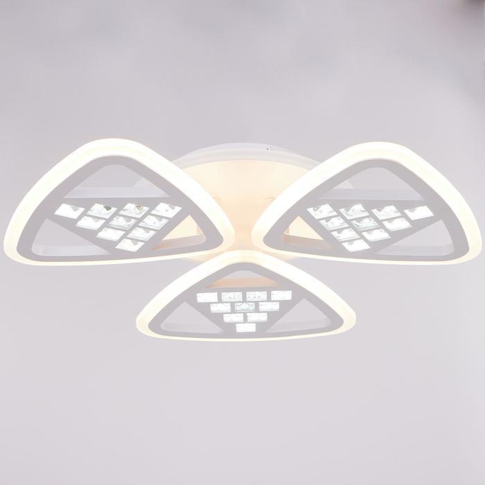 Люстра с ПДУ 38106 134Вт LED 3000-6000К белый, 60,5х7,5 см