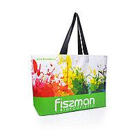 Разноцветная промо-сумка для покупок (салатовая) 50x12x40 см